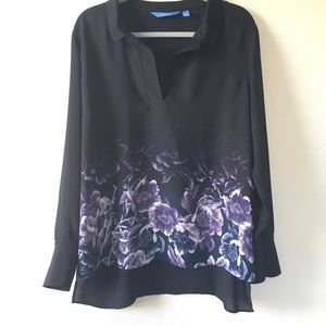 🆕Vera Wang black/purple high- low top-XL.